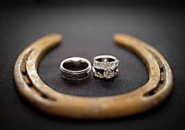 Wedding rings - horsehoe